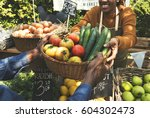 people buying fresh local... | Shutterstock . vector #604302473