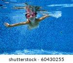 cute underwater kid | Shutterstock . vector #60430255