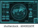 abstract digital teal radar...