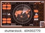 abstract digital radar screen...   Shutterstock .eps vector #604302770