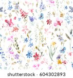 hand painted multicolor... | Shutterstock . vector #604302893