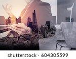 smart medical doctor working... | Shutterstock . vector #604305599