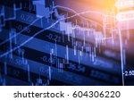 stock market or forex trading... | Shutterstock . vector #604306220