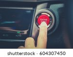 finger about to press button... | Shutterstock . vector #604307450