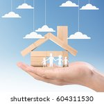 mortgage concept by house from... | Shutterstock . vector #604311530