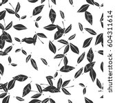 black and white seamless... | Shutterstock .eps vector #604311614