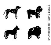 dogs vector icons | Shutterstock .eps vector #604316618