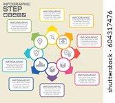 8 steps infographic design... | Shutterstock .eps vector #604317476