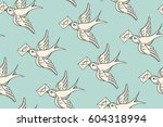 seamless pattern with old... | Shutterstock .eps vector #604318994