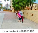 las vegas  united states of... | Shutterstock . vector #604321136