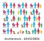 simple vector family... | Shutterstock .eps vector #604323806