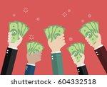 businessman holding money for... | Shutterstock .eps vector #604332518
