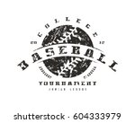 emblem of baseball tournament.... | Shutterstock .eps vector #604333979
