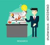 research conceptual design | Shutterstock .eps vector #604334060