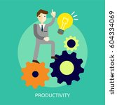 productivity conceptual design | Shutterstock .eps vector #604334069