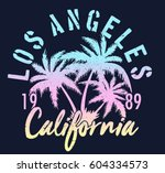 vintage tropical graphic.... | Shutterstock .eps vector #604334573