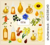 vector oil set.different kinds... | Shutterstock .eps vector #604338140