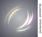 circular flare light effect.... | Shutterstock .eps vector #604340738