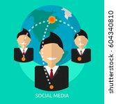 social media conceptual design | Shutterstock .eps vector #604340810