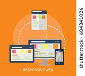 responsive web conceptual design | Shutterstock .eps vector #604341026