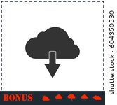 cloud download icon flat....