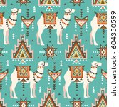 vector seamless pattern with... | Shutterstock .eps vector #604350599