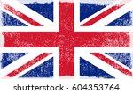 vector grunge uk flag.old flag... | Shutterstock .eps vector #604353764