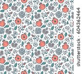 vector seamless pattern with... | Shutterstock .eps vector #604362464