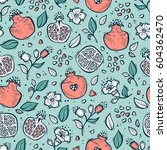 vector seamless pattern with... | Shutterstock .eps vector #604362470