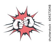 two fists bumping together... | Shutterstock .eps vector #604373048