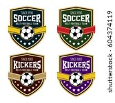 vector soccer logo badge  | Shutterstock .eps vector #604374119
