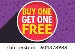 buy one get one free discount... | Shutterstock .eps vector #604378988