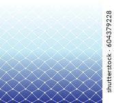 seamless fishing net pattern on ... | Shutterstock .eps vector #604379228