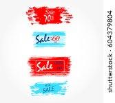 geometrical social media sale... | Shutterstock .eps vector #604379804