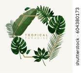 Trendy Summer Tropical Leaves...