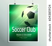 awesome sports flyer poster... | Shutterstock .eps vector #604385924