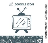 doodle tv | Shutterstock .eps vector #604389800