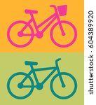 womens bike  men cycling icon... | Shutterstock .eps vector #604389920