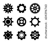 simple gear or cog wheel vector ... | Shutterstock .eps vector #604396760