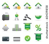 Real State Icons | Green12 Professional icons for your website, application, or presentation - stock vector