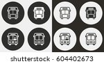 bus vector icons set.... | Shutterstock .eps vector #604402673