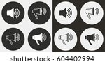 speaker vector icons set.... | Shutterstock .eps vector #604402994