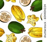 vector seamless pattern with... | Shutterstock .eps vector #604404224