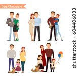 set of characters showing the... | Shutterstock .eps vector #604406033