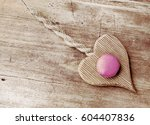 french macaroons on a wooden...   Shutterstock . vector #604407836
