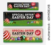 set of easter sale special... | Shutterstock .eps vector #604408148