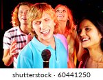 photo of funny guy singing at... | Shutterstock . vector #60441250