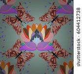 varicolored seamless... | Shutterstock . vector #604412738
