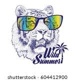 hand drawn tiger | Shutterstock .eps vector #604412900