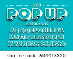 vector of bold modern font and... | Shutterstock .eps vector #604413320